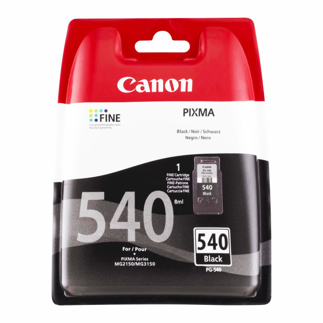 Canon PG-540 Black Ink Cartridge, tinta, cca 180 ispisa, Original [5225B005AA]