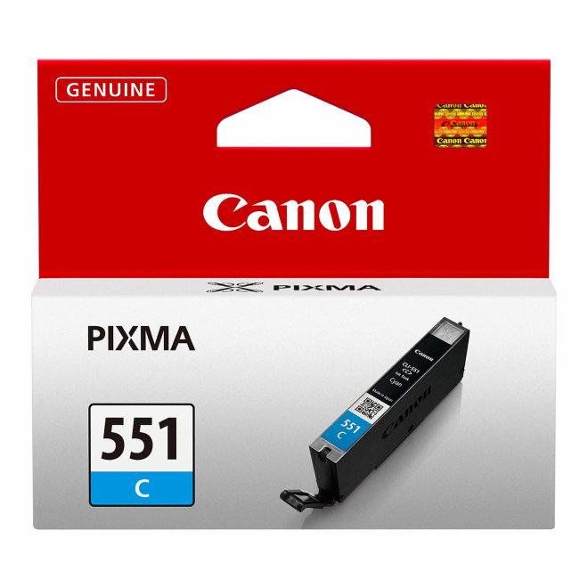 Canon CLI-551C Cyan Ink Cartridge, tinta, cca 304 ispisa, Original [6509B001AA]