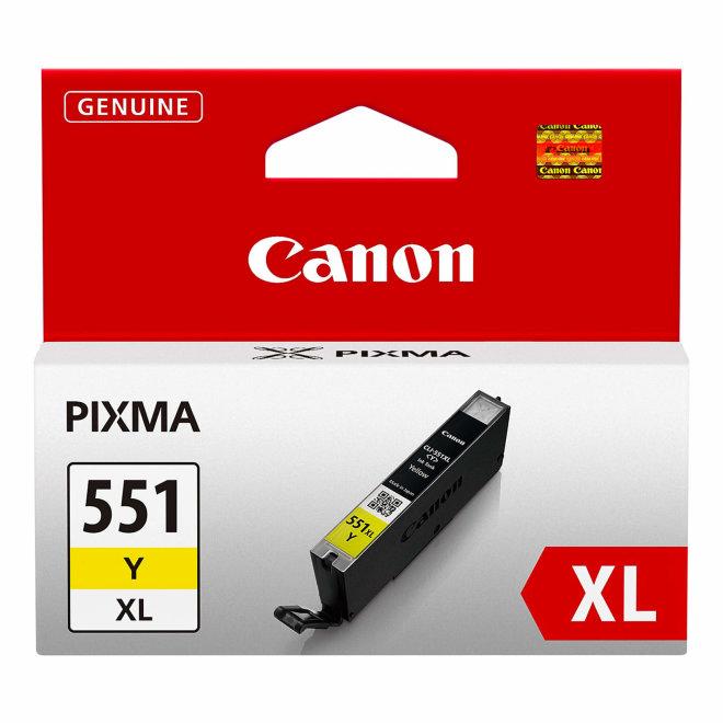 Canon CLI-551XL High Yield Yellow Ink Cartridge, tinta, cca 685 ispisa, Original [6446B001AA]