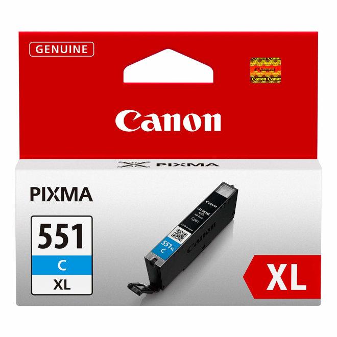 Canon CLI-551XL High Yield Cyan Ink Cartridge, tinta, cca 665 ispisa, Original [6444B001AA]