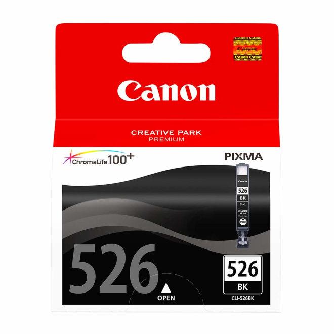 Canon CLI-526BK Black Ink Cartridge, tinta, ChromaLife100+ system, cca 660 fotografija, Original [4540B001AA]