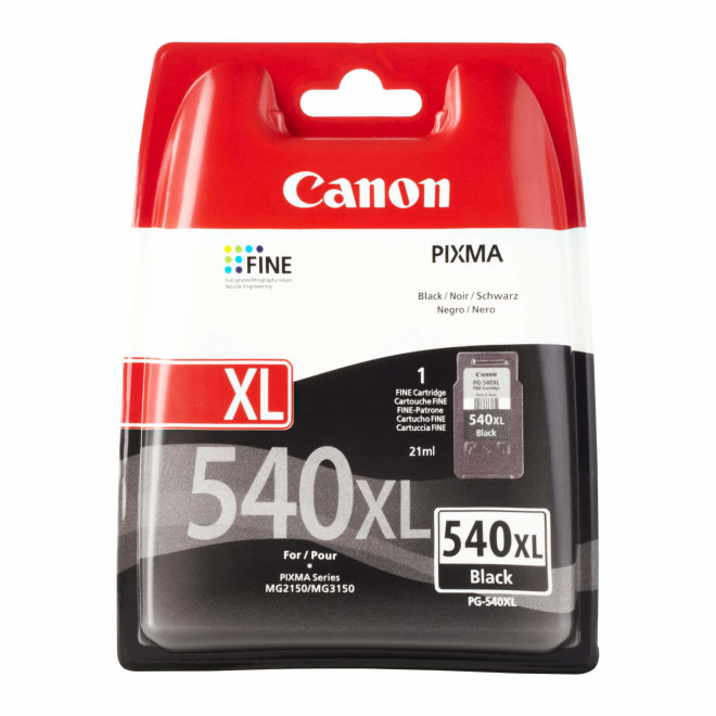 Canon PG-540XL High Yield Black Ink Cartridge, tinta, cca 600 ispisa, Original [5222B005AA]