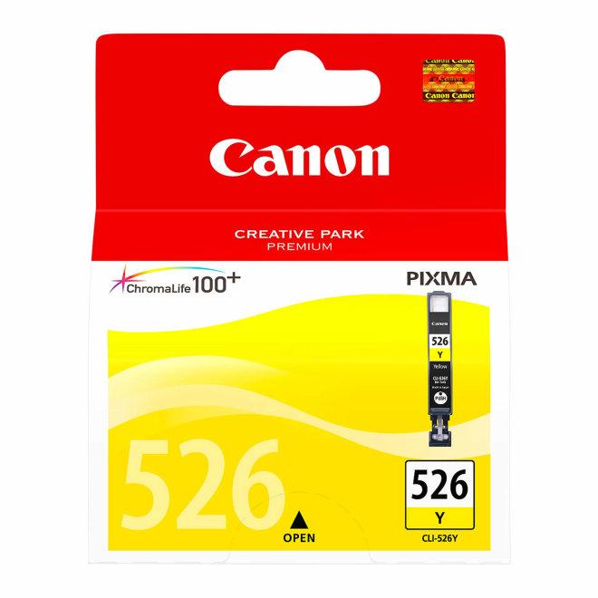 Canon CLI-526Y Yellow Ink Cartridge, tinta, ChromaLife100+ system, cca 202 fotografije, Original [4543B001AA]