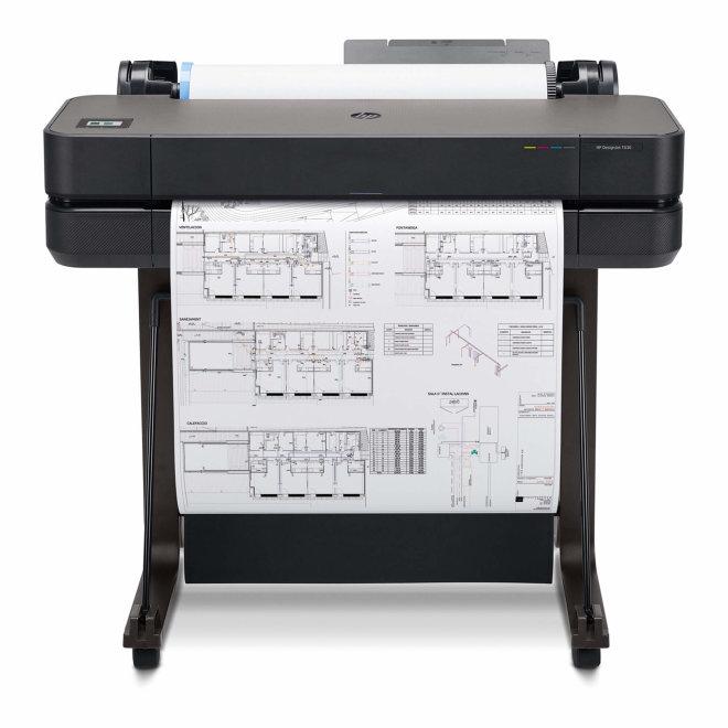 "HP DesignJet T630 Printer + Postolje, ploter, tintni ispis u boji, 4 boje, 24"", WiFi, Ethernet, USB, 1GB RAM, Black, 60 – 280 g/m² [5HB09A#B19]"