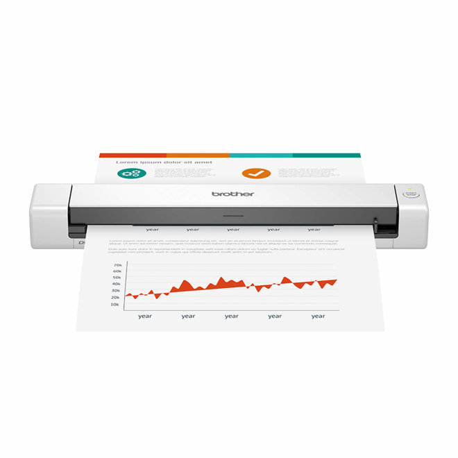 Brother DSmobile DS-640, mobilni skener dokumenata, Scan to Email/OCR/SMB/Cloud, A4 format, 30 str/min, Super Speed USB, 35 – 270 g/m², 0,46 kg, White [DS640]