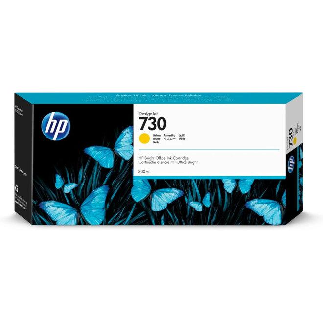 HP 730 300-ml Yellow DesignJet Ink Cartridge, tinta, Original [P2V70A]