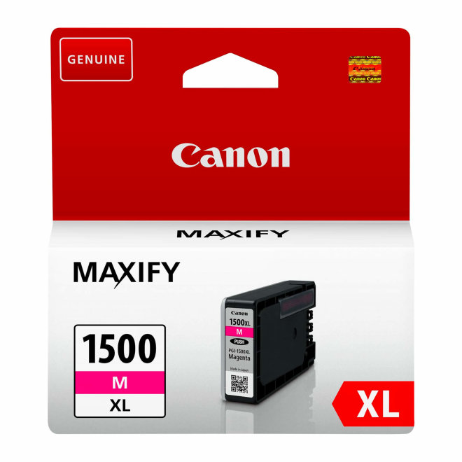 Canon PGI-1500XL High Yield Magenta Ink Cartridge, tinta, cca 780 ispisa, Original [9194B001AA]