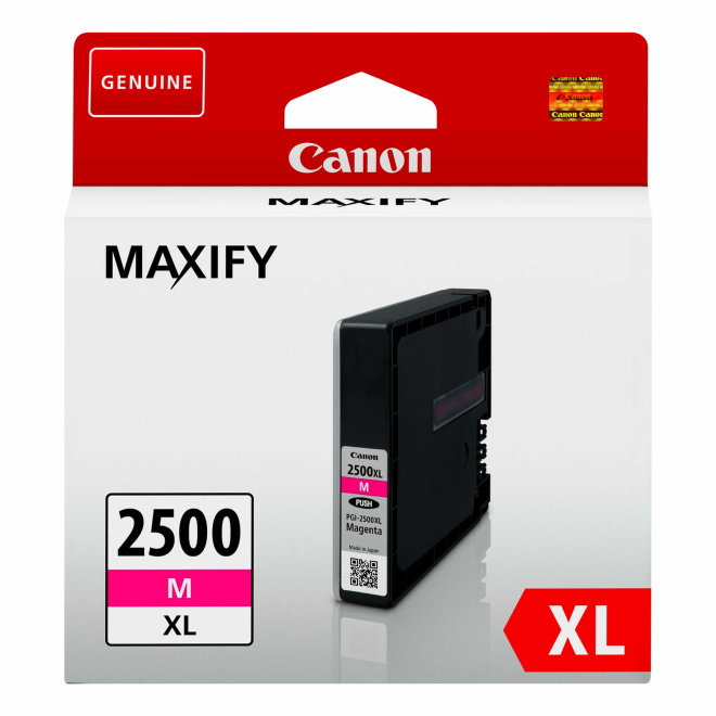 Canon PGI-2500XL High Yield Magenta Ink Cartridge, tinta, cca 1.295 ispisa, Original [9266B001AA]