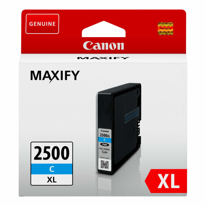 Canon PGI-2500XL High Yield Cyan Ink Cartridge, tinta, cca 1.775 ispisa, Original [9265B001AA]
