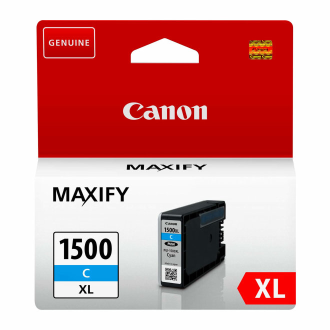 Canon PGI-1500XL High Yield Cyan Ink Cartridge, tinta, cca 1.020 ispisa, Original [9193B001AA]