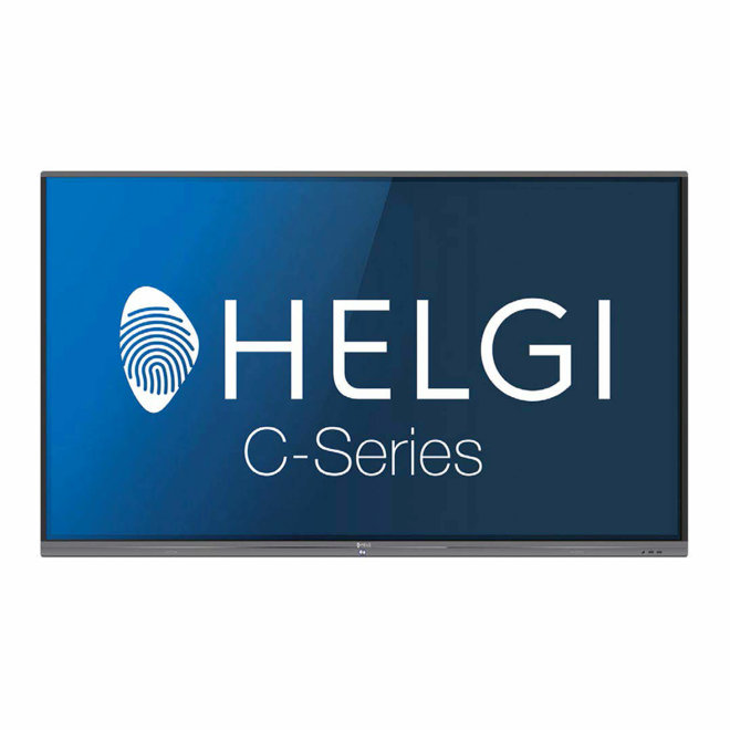 """Helgi TDC75, interaktivni ekran, 75"""" 4K / UHD, Android, WiFi, HDMI, USB, VGA in, 3GB RAM, 16GB ROM, 20 točaka dodira, 10 točaka pisanja, Black, 70,3 kg [TDC75]"""