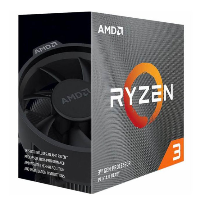 AMD Ryzen 3 3100 BOX, Procesor, AM4, 3.6GHz, QuadCore, Wraith Stealth [100-100000284BOX]