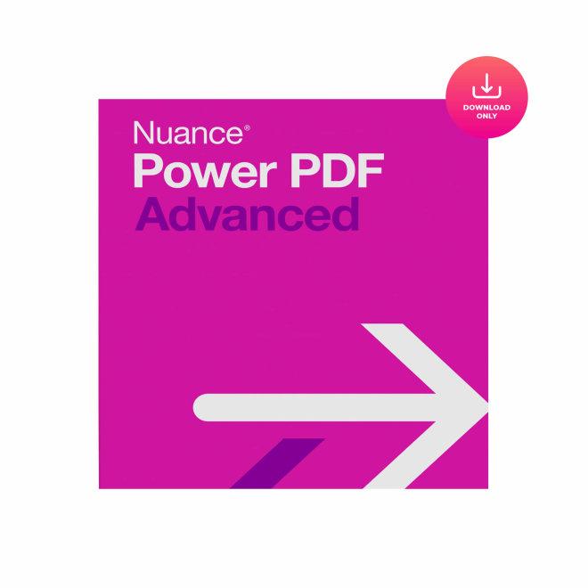 Nuance Power PDF Advanced Int. V1, profesionalni uređivač/editor PDF datoteka [RIBAV09X]