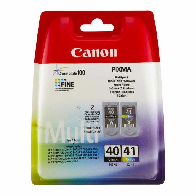 Canon PG-40/CL-41 Multipack, 4-Colours (BK/C/M/Y), tinte, Original [0615B043AA]