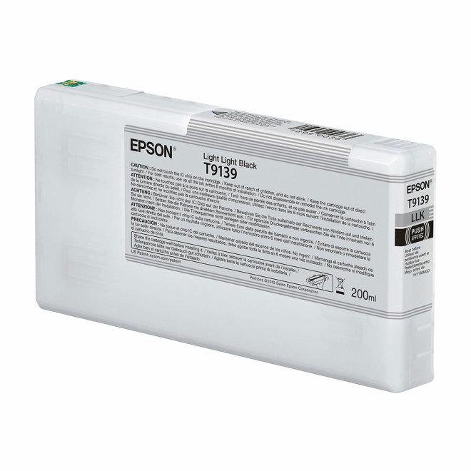 Epson T9139 Light Light Black Ink Cartridge (200ml), tinta, Original [C13T913900]
