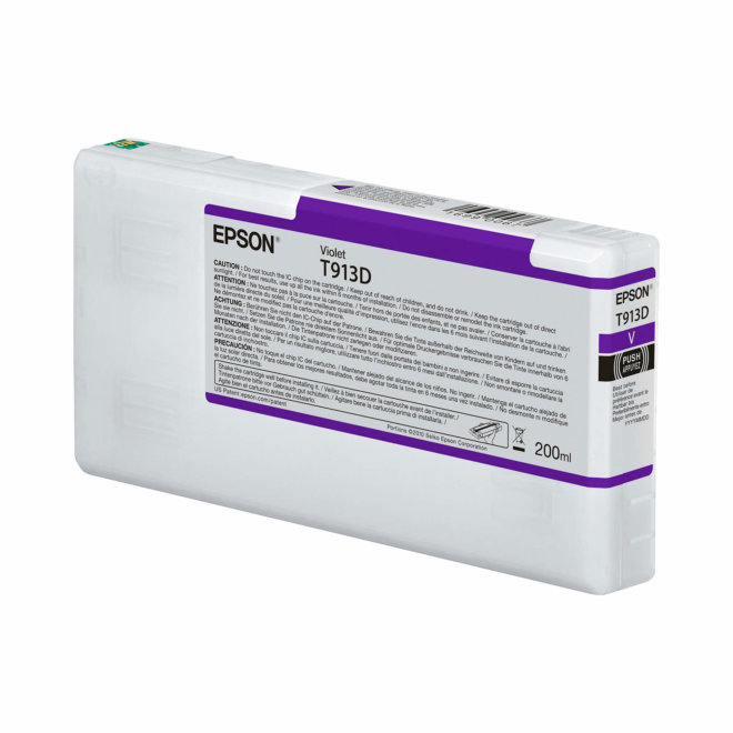 Epson T913D Violet Ink Cartridge (200ml), tinta, Original [C13T913D00]