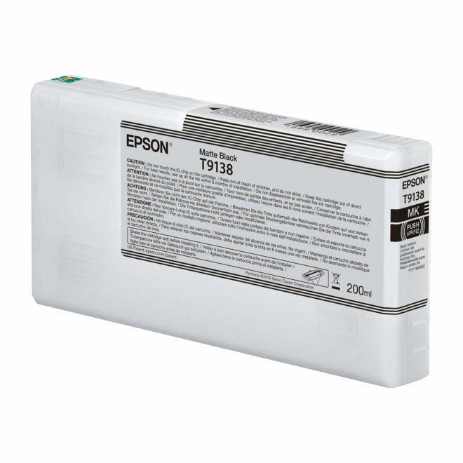 Epson T9138 Matte Black Ink Cartridge (200ml), tinta, Original [C13T913800]
