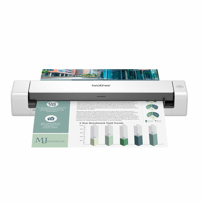 Brother DSmobile DS-740D, mobilni skener dokumenata, Scan to Email/OCR, A4 format, 30 ipm, Super Speed USB, 35 – 270 g/m², 0,64 kg, White [DS740D]