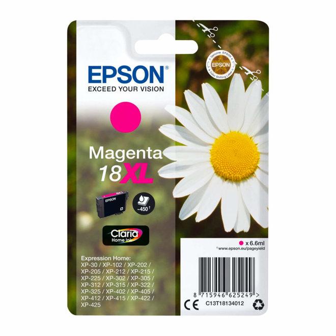Epson Singlepack Magenta 18XL Claria Home Ink, tinta, cca 450 ispisa, Original [C13T18134022]