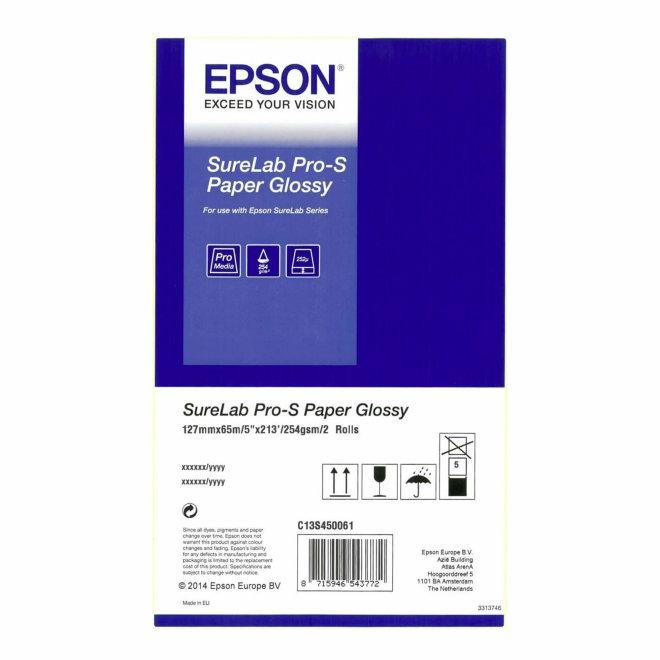 Epson SureLab Pro-S Paper Glossy BP 5x65, 2 role, Original [C13S450061BP]