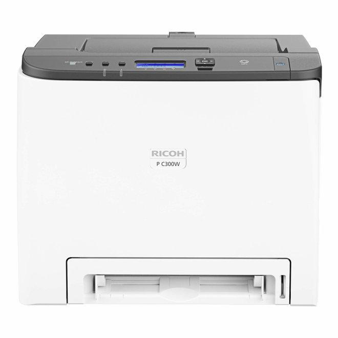 Ricoh P C300W, jednofunkcijski pisač, laserski ispis u boji, A4, WiFi, USB, Ethernet, Dupleks, 60 – 163 g/m² [408333]
