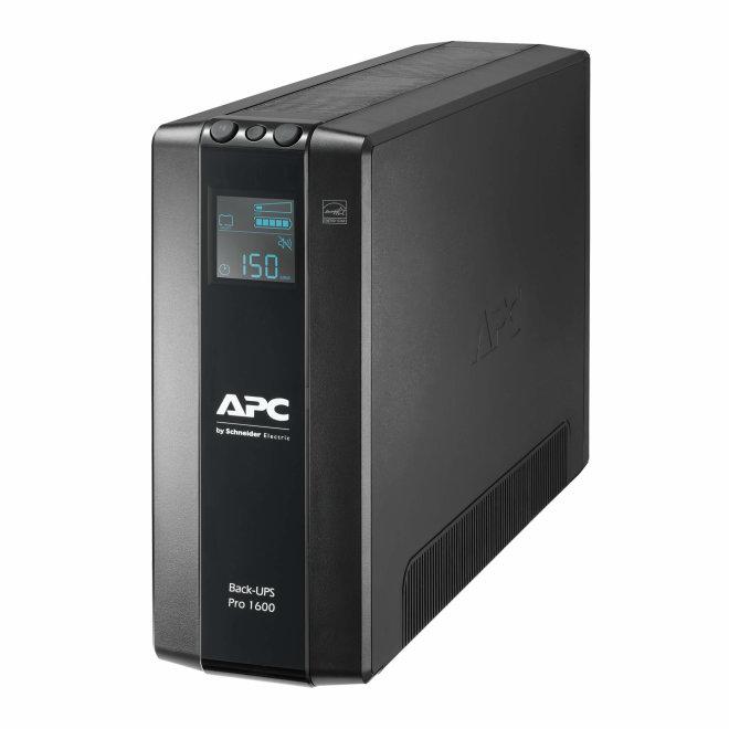 APC Back-UPS Pro BR1600MI, UPS besprekidno napajanje, AC 230 V, 960 Watta, 1600 VA, USB, 8 utičnica, AVR, LCD, Black [BR1600MI]