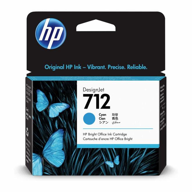 HP 712 29-ml Cyan DesignJet Ink Cartridge, tinta, Original [3ED67A]