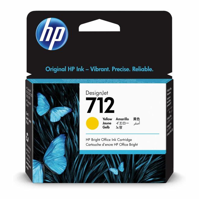 HP 712 29-ml Yellow DesignJet Ink Cartridge, tinta, Original [3ED69A]