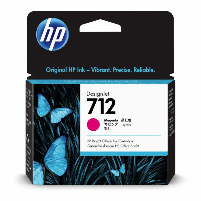 HP 712 29-ml Magenta DesignJet Ink Cartridge, tinta, Original [3ED68A]