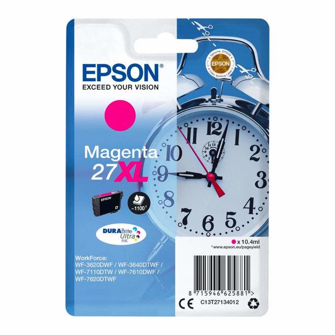 Epson Singlepack Magenta 27XL DURABrite Ultra Ink, tinta, cca 1.100 ispisa, Original [C13T27134012]