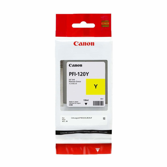 Canon PFI-120Y Yellow Ink Cartridge 130ml, tinta, Original [2885C001AA]