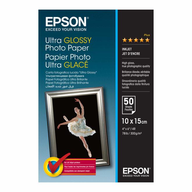 Epson Ultra Glossy Photo Papir, 10 x 15 cm, 50 listova, 300 g/m², Original [C13S041943]