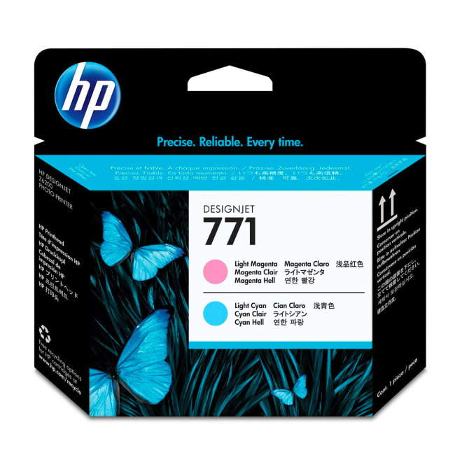 HP 771 Light Magenta/Light Cyan DesignJet Printhead / Glava, Original [CE019A]