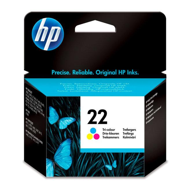 HP 22 Tri-color Original Ink Cartridge, tinta, cca 165 ispisa, Original [C9352AE#ABE]