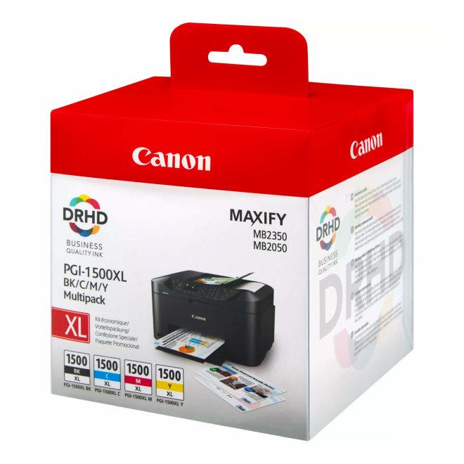 Canon PGI-1500XL B/C/M/Y High Yield Ink Cartridges – Multipack, tinte, cca 1.200 ispisa, Original [9182B004]