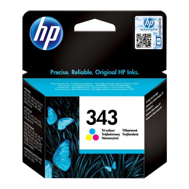 HP 343 Tri-color Original Ink Cartridge [C8766EE#BA3]