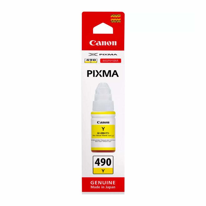 Canon GI-490 Yellow Ink Bottle, tinta u boci, cca 7.000 ispisa, Original [0666C001]