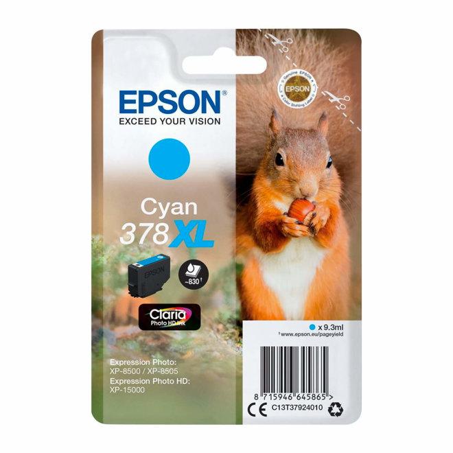 Epson Singlepack Cyan 378XL Claria Photo HD Ink, tinta, cca 830 ispisa, Original [C13T37924020]