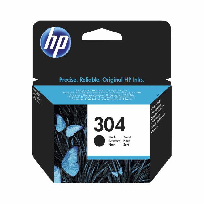 HP 304 Black Ink Cartridge, cca 120 ispisa, Original [N9K06AE]