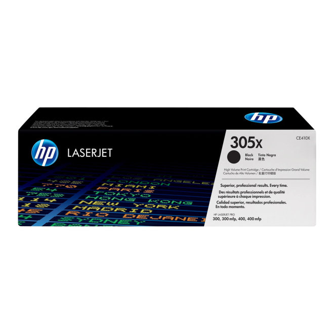 HP 305X High Yield Black Original LaserJet Toner Cartridge, kazeta, cca 4.000 ispisa, Original [CE410XH]