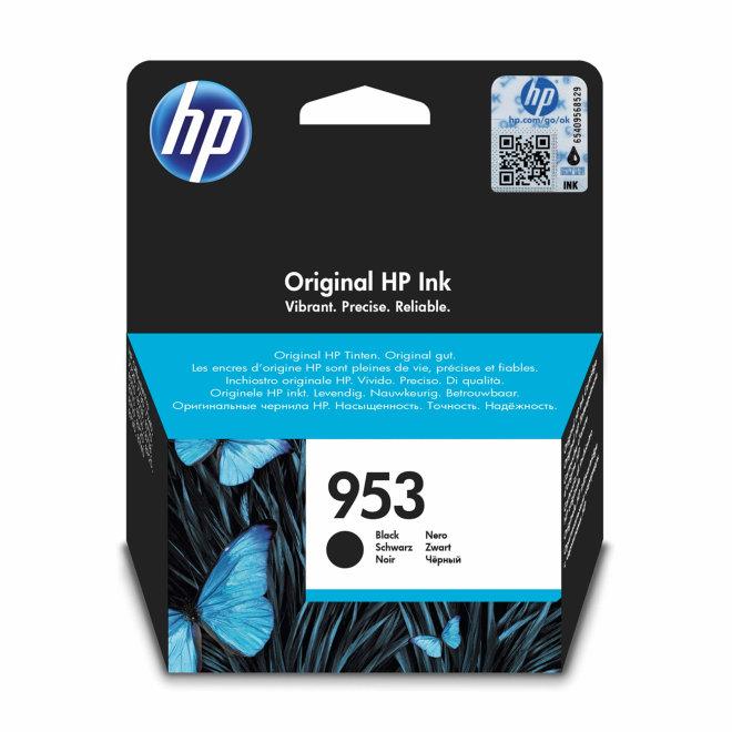 HP 953 Black Original Ink Cartridge, tinta, cca 1.000 ispisa, Original [L0S58AE#BGX]