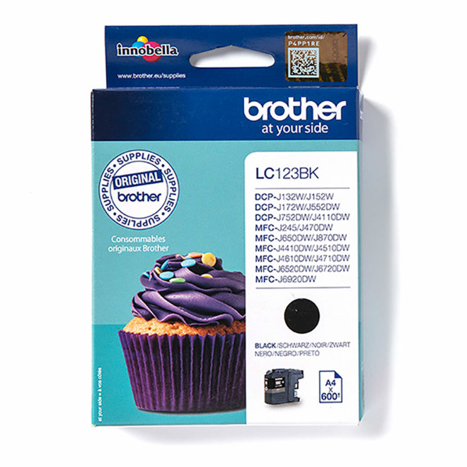 Brother tinta LC123BK, Black, cca 600 stranica, Original [LC123BK]