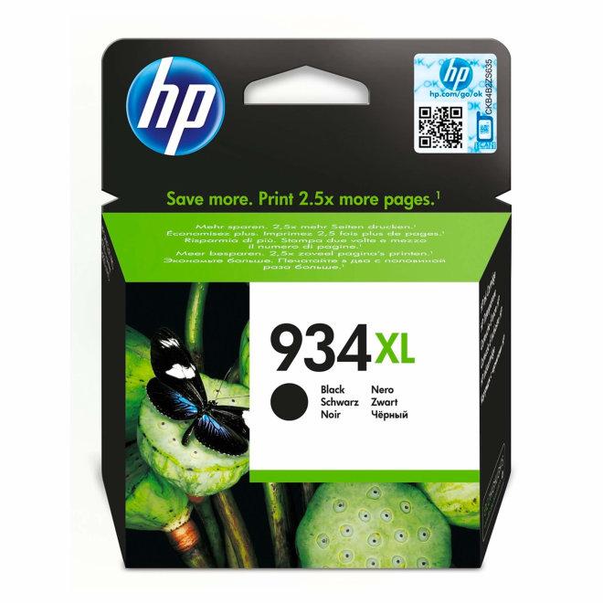 HP 934XL High Yield Black Original Ink Cartridge, tinta, cca 1.000 ispisa, Original [C2P23AE#BGX]