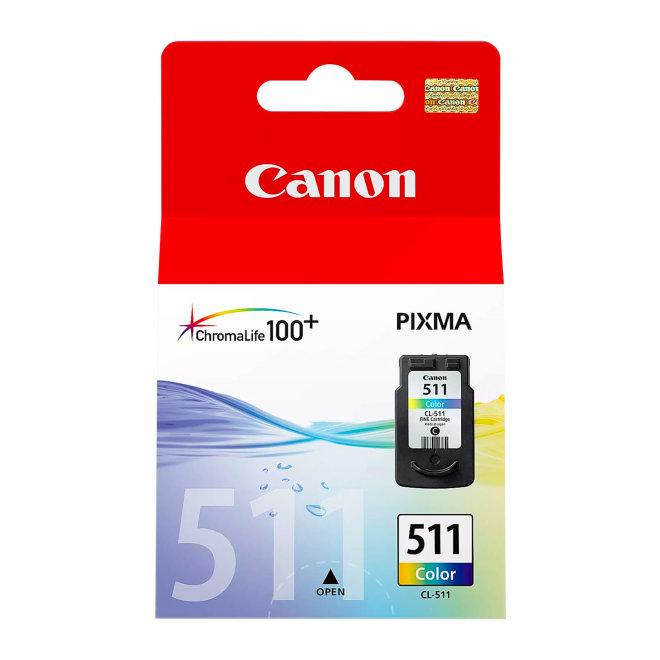Canon CL-511 C/M/Y Colour Ink Cartridge, tinta, cca 244 ispisa, Original [2972B001]