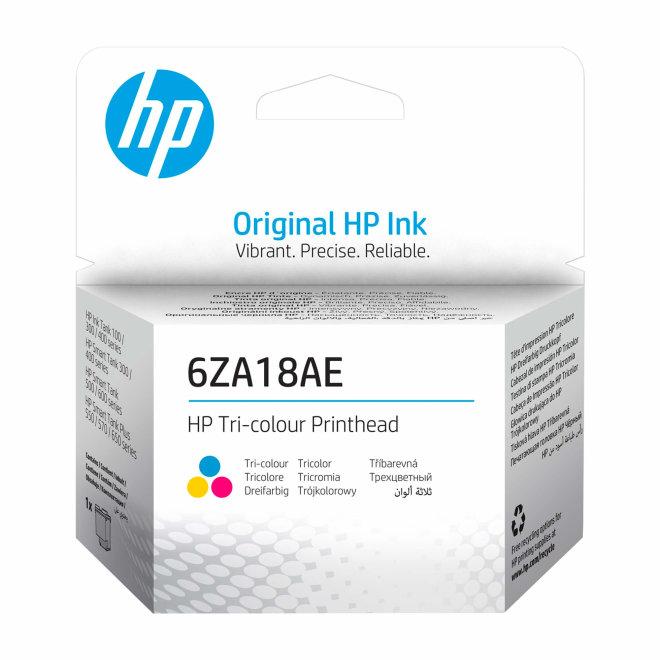 HP 6ZA18AE Tri-color Printhead, Original [6ZA18AE]