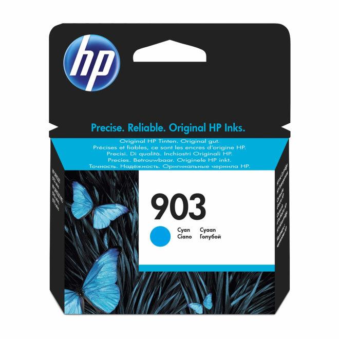 HP 903 Cyan Original Ink Cartridge, tinta, cca 315 ispisa, Original [T6L87AE#BGX]