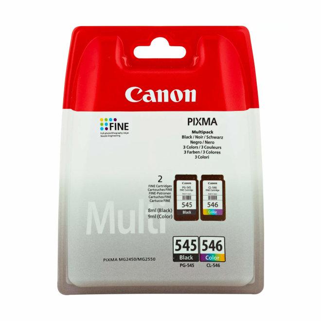 Canon PG-545 Black + CL-546 Colour Ink Cartridges – Multipack, tinte, cca 180 ispisa, Original [8287B005]