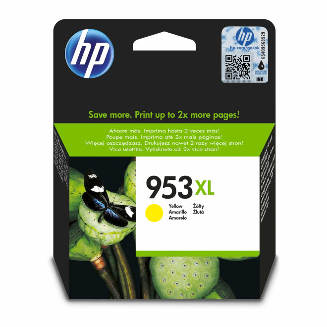 HP 953XL High Yield Yellow Original Ink Cartridge, tinta, cca 1.600 ispisa, Original [F6U18AE#BGX]