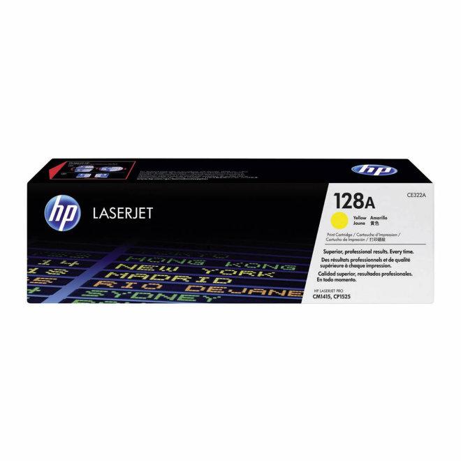 HP 128A Yellow Original LaserJet Toner Cartridge [CE322A]