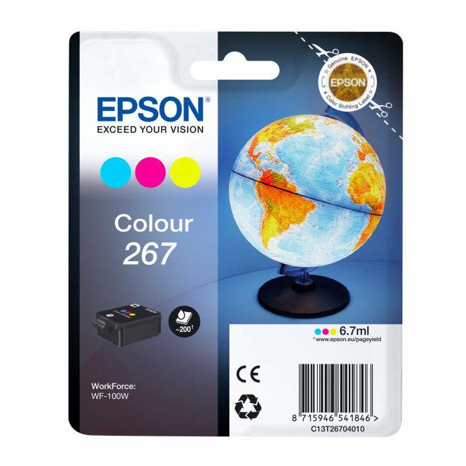 Epson Singlepack Colour 267 ink cartridge, tinta, cca 200 ispisa, Original [C13T26704010]